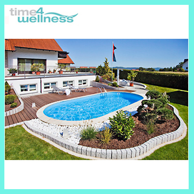 Pool poolset stahlwandbecken 8 x 4 x 1 5 m oval set neu ebay for Stahlwandbecken oval