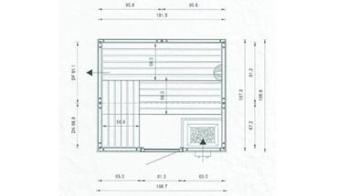 arend saunakabine sauna saunaanlage saunaofen kabine ebay. Black Bedroom Furniture Sets. Home Design Ideas